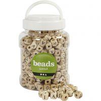 Buchstaben-Perlen, Größe 9x9x9 mm, Lochgröße 3 mm, 400 ml/ 1 Eimer, 185 g