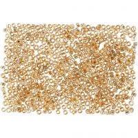 Rocaille Seed Beads, D: 1,7 mm, Größe 15/0 , Lochgröße 0,5-0,8 mm, Pfirsich, 500 g/ 1 Btl.