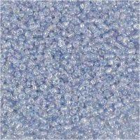 Rocaille Seed Beads, D: 1,7 mm, Größe 15/0 , Lochgröße 0,5-0,8 mm, Hellblau, 25 g/ 1 Pck