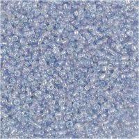 Rocaille Seed Beads, D: 1,7 mm, Größe 15/0 , Lochgröße 0,5-0,8 mm, Hellblau, 500 g/ 1 Btl.