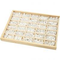 Buchstaben-Perle, A-Z, &, #, ?, Größe 8x8 mm, Lochgröße 3 mm, Weiß, 750 sort./ 1 Pck