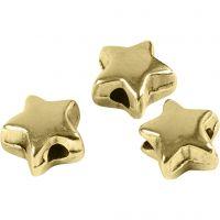 Abstands-Perle, Größe 5,5x5,5 mm, Lochgröße 1 mm, Vergoldet, 3 Stk/ 1 Pck