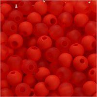 Kunststoffperlen, D: 6 mm, Lochgröße 2 mm, Orange, 40 g/ 1 Pck