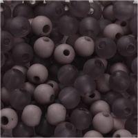 Kunststoffperlen, D: 6 mm, Lochgröße 2 mm, Helllila, 40 g/ 1 Pck