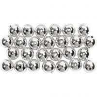Wachsperlen, D: 8 mm, Lochgröße 1 mm, Silber, 50 Stk/ 1 Pck