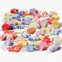 Pastell-Mix, Größe 9-12 mm, Lochgröße 1,2 mm, 175 ml/ 1 Pck, 110 g