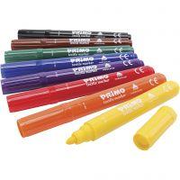 PRIMO Stoffmalstifte, Sortierte Farben, 8 Stk/ 1 Pck