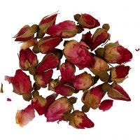 Trockenblumen, Rosenknospen, L: 1 - 2 cm, D: 0,6 - 1 cm, Dunkelpink, 1 Pck