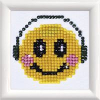 Diamand Dotz, Smiley, Größe 7,6x7,6 cm, 1 Pck