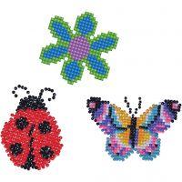 Diamond Dotz, Blüte, Schmetterling, Marienkäfer, Größe 18x10 cm, 1 Pck