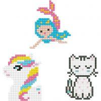 Diamond Dotz, Kätzchen, Meerjungfrau, Pony, Größe 18x10 cm, 1 Pck