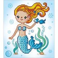 Diamond Dotz, Kleine Meerjungfrau, Größe 20x20 cm, 1 Pck