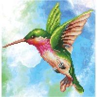 Diamond Dotz, Magie mit Kolibri, Größe 28x35,5 cm, 1 Pck