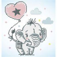 Diamond Dotz, Baby-Elefant, Größe 28x35,5 cm, 1 Pck
