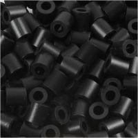 Bügelperlen, Größe 5x5 mm, Lochgröße 2,5 mm, medium, Schwarz (32220), 1100 Stk/ 1 Pck