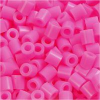 Bügelperlen, Größe 5x5 mm, Lochgröße 2,5 mm, medium, Rosa (32222), 6000 Stk/ 1 Pck