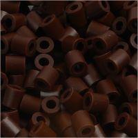 Bügelperlen, Größe 5x5 mm, Lochgröße 2,5 mm, medium, Braun (32229), 1100 Stk/ 1 Pck