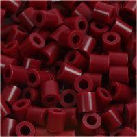 Bügelperlen, Größe 5x5 mm, Lochgröße 2,5 mm, medium, Weinrot (32239), 1100 Stk/ 1 Pck