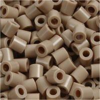 Bügelperlen, Größe 5x5 mm, Lochgröße 2,5 mm, medium, Beige (32248), 6000 Stk/ 1 Pck
