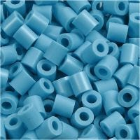 Bügelperlen, Größe 5x5 mm, Lochgröße 2,5 mm, medium, Türkis (32256), 6000 Stk/ 1 Pck