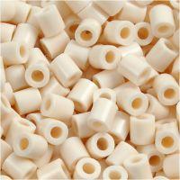 Bügelperlen, Größe 5x5 mm, Lochgröße 2,5 mm, medium, Hellbeige (32251), 1100 Stk/ 1 Pck