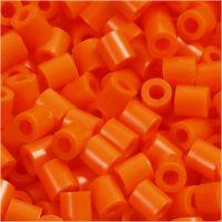 Bügelperlen, Größe 5x5 mm, Lochgröße 2,5 mm, medium, Orange (32233), 1100 Stk/ 1 Pck