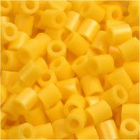 Bügelperlen, Größe 5x5 mm, Lochgröße 2,5 mm, medium, Gelb (32227), 1100 Stk/ 1 Pck