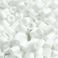 Bügelperlen, Größe 5x5 mm, Lochgröße 2,5 mm, medium, Weiß (32221), 1100 Stk/ 1 Pck