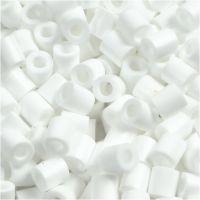 Bügelperlen, Größe 5x5 mm, Lochgröße 2,5 mm, medium, Weiß (32221), 6000 Stk/ 1 Pck