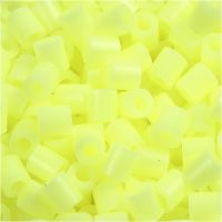 Bügelperlen, Größe 5x5 mm, Lochgröße 2,5 mm, medium, Pastellgelb (32244), 1100 Stk/ 1 Pck