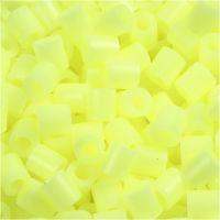 Bügelperlen, Größe 5x5 mm, Lochgröße 2,5 mm, medium, Pastellgelb (32244), 6000 Stk/ 1 Pck