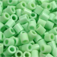 Bügelperlen, Größe 5x5 mm, Lochgröße 2,5 mm, medium, Pastellgrün (32252), 6000 Stk/ 1 Pck