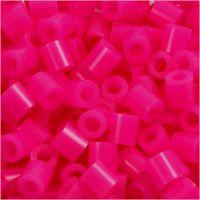 Bügelperlen, Größe 5x5 mm, Lochgröße 2,5 mm, medium, Pink (32258), 1100 Stk/ 1 Pck