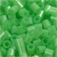 Bügelperlen, Größe 5x5 mm, Lochgröße 2,5 mm, medium, Perlmuttgrün (32240), 1100 Stk/ 1 Pck