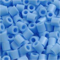 Bügelperlen, Größe 5x5 mm, Lochgröße 2,5 mm, medium, Pastellblau (32224), 1100 Stk/ 1 Pck