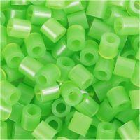 Bügelperlen, Größe 5x5 mm, Lochgröße 2,5 mm, medium, Neongrün (32237), 1100 Stk/ 1 Pck