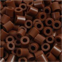 Bügelperlen, Größe 5x5 mm, Lochgröße 2,5 mm, medium, Schokolade (32249), 1100 Stk/ 1 Pck