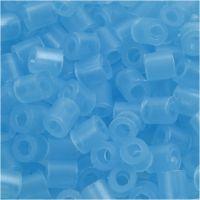 Bügelperlen, Größe 5x5 mm, Lochgröße 2,5 mm, medium, Neonblau (32235), 1100 Stk/ 1 Pck