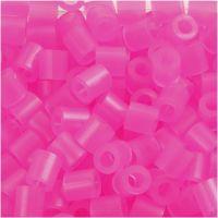 Bügelperlen, Größe 5x5 mm, Lochgröße 2,5 mm, medium, Rosaneon (32257), 1100 Stk/ 1 Pck