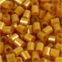 Bügelperlen, Größe 5x5 mm, Lochgröße 2,5 mm, medium, Gold (32263), 6000 Stk/ 1 Pck