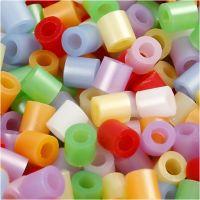 Bügelperlen, Größe 5x5 mm, Lochgröße 2,5 mm, medium, Perlmuttfarben, 5000 sort./ 1 Eimer