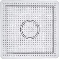 Steckbrett, Größe 14,5x14,5 cm, Transparent, 1 Stk