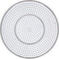Steckbrett, Großer Kreis, D: 15 cm, Transparent, 1 Stk