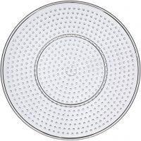 Steckbrett, Großer Kreis, D: 15 cm, Transparent, 10 Stk/ 1 Pck