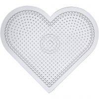 Steckbrett, großes Herz, H: 15 cm, Transparent, 10 Stk/ 1 Pck