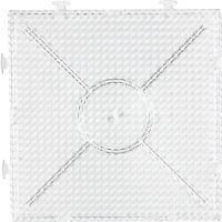 Steckbrett, großes Kombi-Quadrat, Größe 15x15 cm, Transparent, 1 Stk