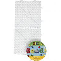 Steckplatten mit CD, Großes Quadrat, JUMBO, Transparent, 1 Set
