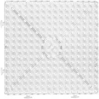 Steckplatte, Großes Quadrat, Größe 15x15 cm, JUMBO, Transparent, 1 Stk