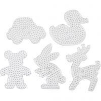 Steckplatten, Größe 16x19,5-19x24 cm, JUMBO, Transparent, 5 Stk/ 1 Pck