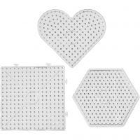 Steckplatten, Größe 15x15-17,5x17,5 cm, JUMBO, Transparent, 6 Stk/ 1 Pck